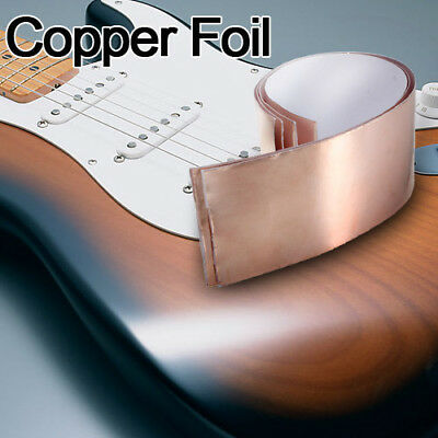 1 FEET X 50mm Copper Foil Tape EMI Shielding for Guitars Pedals 5cm x30cm new