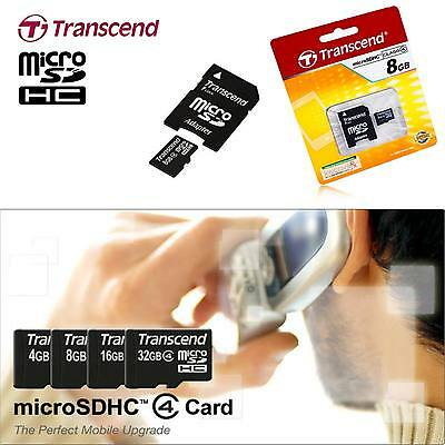 Transcend Micro Sdhc (Micro Sd 2.0) Class 4 Mobile Phone / Tablet Memory Card