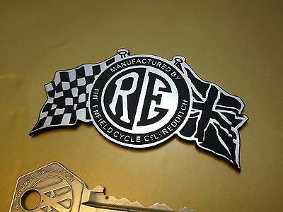 Royal Enfield Flag & Disc Style Self Adhesive BADGE 75mm Motorcycle Bike Helmet