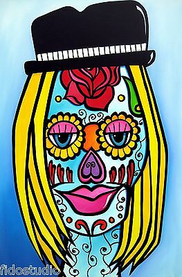 SUGAR MAMA - Original Pop ART Abstract MODERN SKULL fun print by Fidostudio