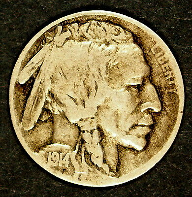 USA 1914 'D' - 5 cent coin - Well circulated example of this low mintage coin