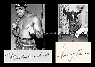 Boxing Legends Muhammad Ali & Sonny Liston In Kilts Signed (Printed) Exclusive