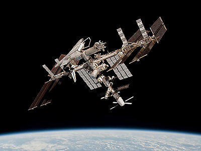 NASA Photo Space Station ISS in GRAVITY above Earth Wall Mural - 50 x 67cm