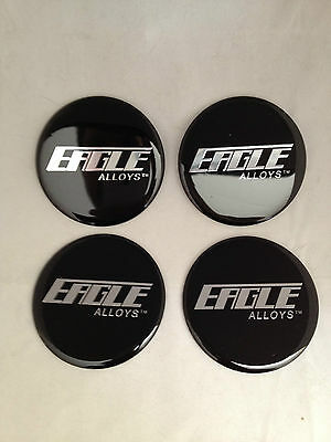 AMERICAN EAGLE ALLOYS WHEEL RIM CENTER CAP STICKER DECAL SET OF 4 71MM 2 3/4""