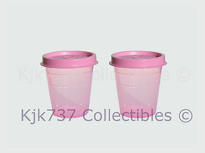 Set Of 2 New Tupperware 2 Oz Classic Midgets Condiment Containers Pink Delight