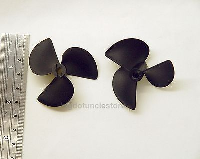 295h 2x 3-Bladed Boat Propellers,D52mm,P80mm,Shaft:Φ4.8mm Right-Hand for RC Boat