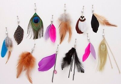 10pc Feathers Mix Belly Rings Navel naval Wholesale Lot (B209)