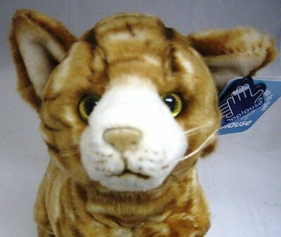 Russ Berrie Applause Lying Orange Plush CHINCHILLA CAT ~NEW~
