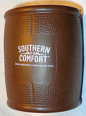 Southern Comfort Football Themed Can Coozie - Koozie - Coozy - Rubber...NEW