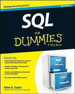 SQL For Dummies - Paperback NEW Allen G. Taylor 2013-09-20