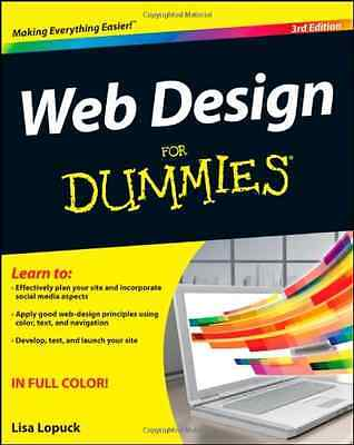 Web Design For Dummies, 3rd Edition - Lisa Lopuck NEW Paperback 3 5/1/2012