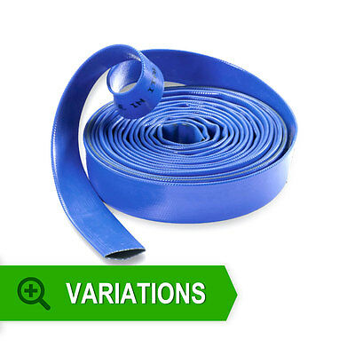 Blue Layflat Water Discharge Hose Pipe **multi Listing** All Sizes And Lengths