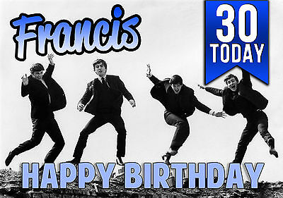Personalised the beatles birthday card 299 picclick uk personalised the beatles birthday greeting card a5 m4hsunfo