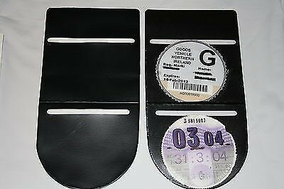 Plain Black  Car  Tax Disc Holder Permit License Holder Double Verticle