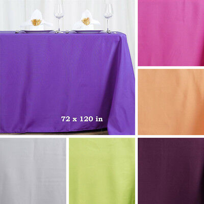 "20 pcs 72x120"" RECTANGLE POLYESTER TABLECLOTHS Wedding Catering Party Supplies"