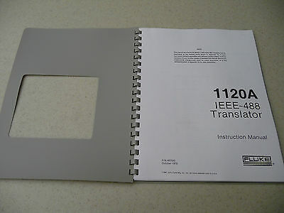 FLUKE MODEL 1120A IEEE 488 Translator Manual Instruction Booklet