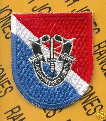 11th Special Forces Airborne beret flash DUI patch B