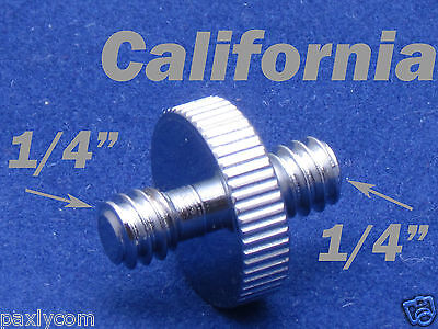 "1/4"" Male to 1/4"" Male Threaded Convert Screw Adapter for Tripod and Head 1-4"""