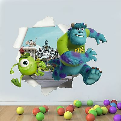 Printed Wall Art Tear Burst Décor Monsters Inc University Graphic Sticker Decal