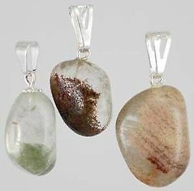 1 X TUMBLED RUTILE PENDANT Wicca Witch Pagan Reiki