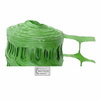 50M GREEN Barrier Fencing Plastic Fence Mesh Netting Roll Building Site Safety