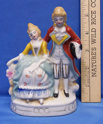 Porcelain Figurine of A Colonial or Victorian Couple Made in Japan