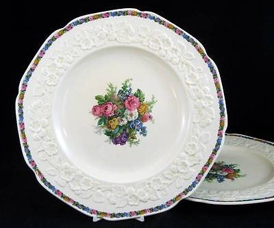 Crown Ducal CHARM 2 Large Dinner Plates VERY GOOD CONDITION