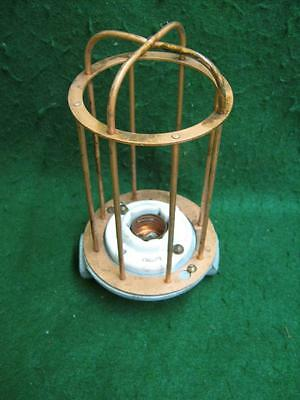 Vintage Industrial Factory Warehouse Steampunk Cage Light Old #2571-13