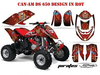 Amr Racing Dekor Kit Atv Can-Am Renegade, Ds250,Ds450,Ds650 Ed-Hardy Pirates  B
