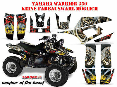 Amr Racing Dekor Kit Atv Yamaha Warrior 350 Iron Maiden - Number Of The Beast B