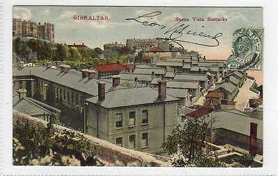 (Lt401-384) Buena Vista Barracks, GIBRALTAR Used, c1905 VG,