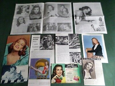 Peggy Dow  - Film Star- Clippings-Cuttings Pack