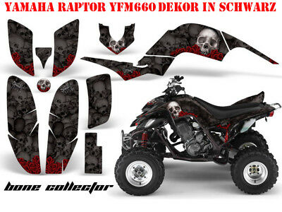 Amr Racing Graphic Kit Atv Yamaha Raptor 125/250/350/660/700 Bone Collector B