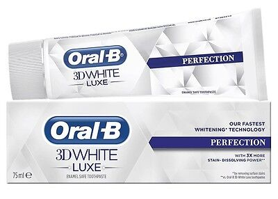 Oral-B 3D White PERFECTION FASTEST Whitening Stain Toothpaste