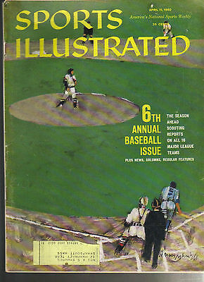 April 11, 1960 6th Annual Baseball Issue Sports Illustrated 1
