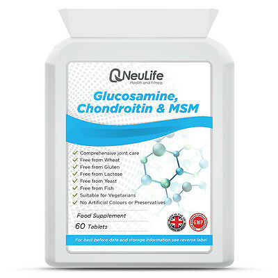 Glucosamine 500mg Chondroitin 100mg and MSM 100mg - 60 Tablets