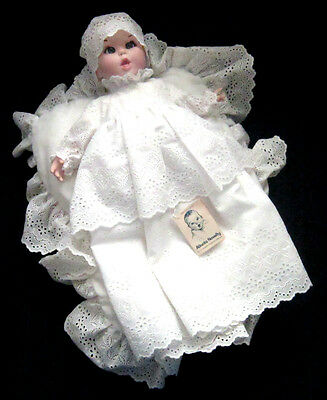 Vintage 1981 GERBER Bisque Baby Doll W/ Christening Gown ~MADE ONE YEAR ONLY!~