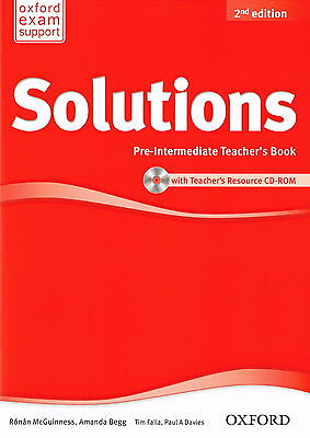 Oxford SOLUTIONS 2nd Edition Pre-Intermediate Teacher's Book w CD-ROM @NEW BOOK@