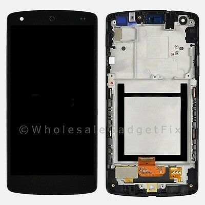 US White Google Nexus 5 LG D820 D821 LCD Touch Digitizer Screen Assembly + Frame