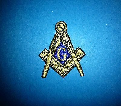 Masonic Freemasons Square & Compass Sew Iron On Hat Jacket Iron On Patch Crest D
