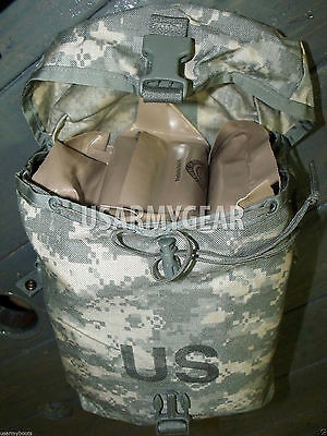 Set of 2 USA Made Military MOLLE II ACU Sustainment Pouch NO Ruck Sack Back Pack