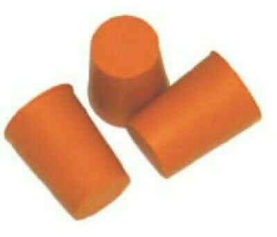 15mm 3pk- Red Rubber Stopper Bungs Laboratory