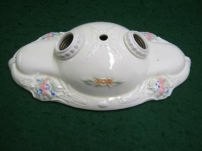 Vintage Oval Porcelain Ceiling Light Chic Shabby Floral Old  2580-13