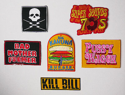 QUENTIN TARANTINO Movie Patch Collection - Kill Bill, Reservoir Dogs, Grindhouse