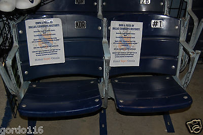 Kappa Delta Rho KDR Custom Texas Stadium Seat Dallas Cowboys Chair COA gift