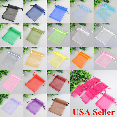 """3x4"""" Lot of 50/100/200PCS Organza Gift Candy Bags Wedding Favors Jewelry Pouches"""