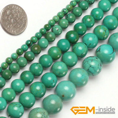"Natural Old Turquoise Vintage Gemstone Round Beads 15""4mm 6mm 8mm 10mm 12mm 14mm"