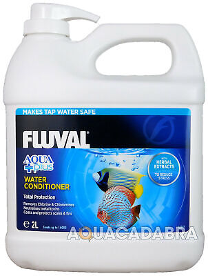 Fluval Aquaplus 2L 2 Litre Water Conditioner Fish Tank Tap Safe Fresh Nutrafin