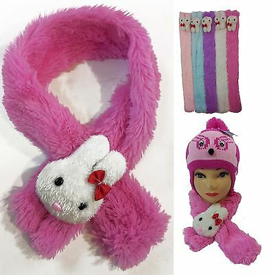Baby Kids Children Bunny Plush Neck Cover  Scarf Hat