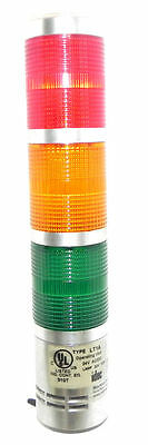 Idec Type Lt1A Signal Light Tower Red, Orange, Green 24V Ac/dc
